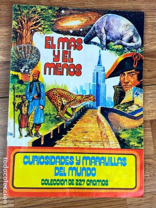ALBUM COMPLETO EL MAS Y EL MENOS DE LA EDITORIAL RUIZ ROMERO (Coleccionismo - Cromos y Álbumes - Álbumes Completos)