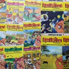 Coleccionismo Álbum: LOTE KALKITOS DE VIVA YO LOS TRES MOSQUETEROS SAMURAIS PICAPIEDRAS ETC.... Lote 195531841