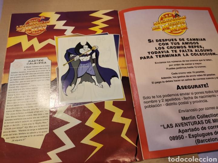 Coleccionismo Álbum: LAS AVENTURAS DE MIGHTY MAX - MERLÍN COLLECTIONS - ALBUM CROMOS STICKER COMPLETO - 1995 - Foto 6 - 195672848