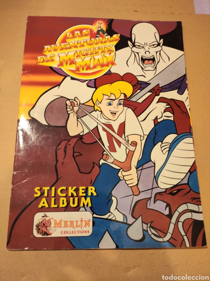 LAS AVENTURAS DE MIGHTY MAX - MERLÍN COLLECTIONS - ALBUM CROMOS STICKER COMPLETO - 1995 (Coleccionismo - Cromos y Álbumes - Álbumes Completos)