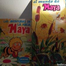 Coleccionismo Álbum: LOTE DE LA ABEJA MAYA. EL ALBUM DE CROMOS Y EL DE CALCOMANIAS COMPLETOS. Lote 195995485