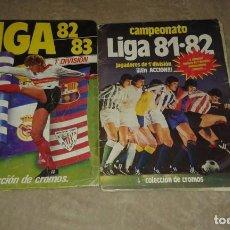 Coleccionismo Álbum: LOTE 2 ÁLBUMES LIGA ESTE TEMPORADAS 81-82 Y 82-83. Lote 196172035