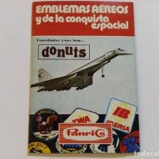 Coleccionismo Álbum: EMBLEMAS AEREOS Y DE LA CONQUISTA ESPACIAL-DONUTS-PANRICO-ALBUM CROMOS COMPLETO-VER FOTOS-V-19.428. Lote 196922825