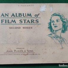 Coleccionismo Álbum: ÁLBUM COMPLETO AN ALBUM OF FILM STARS JOHN PLAYER & SONS. Lote 198216963