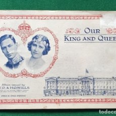 Coleccionismo Álbum: ÁLBUM COMPLETO OUR KING AND QUEEN BY W. D. & H.O. WILLS. Lote 198218281