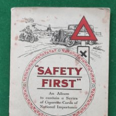 Coleccionismo Álbum: ÁLBUM INCOMPLETO SAFETY FIRST BY W. D. & H.O. WILLS. Lote 198219620