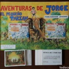 Coleccionismo Álbum: AVENTURAS DE JORGE EL PEQUEÑO TARZAN ALBUM PLANCHA Y 108 CROMOS NUEVOS NUNCA PEGADOS EDIT COSTA 1969. Lote 198406587