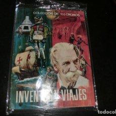 Coleccionismo Álbum: INVENTOS Y VIAJES COMPLETO Y MUY BUEN ESTADO,ALBUM DE CROMOS. Lote 198515465