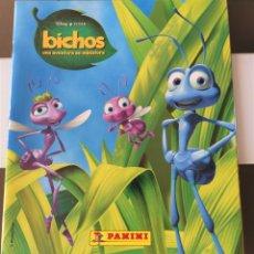 Coleccionismo Álbum: ÁLBUM CROMOS DISNEY PIXAR BICHOS COMPLETO STICKER ALBUM. Lote 199004125