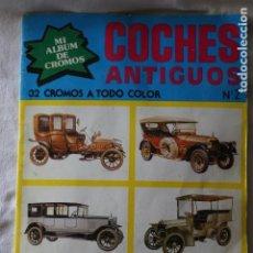 Coleccionismo Álbum: MI ÁLBUM DE CROMOS COCHES ANTIGUOS Nº 2 32 CROMOS A TODO COLOR PÓSTER CENTRAL NUEVA SITUACIÓN 1980. Lote 199069067