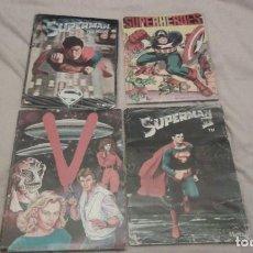 Coleccionismo Álbum: LOTE 4 ÁLBUMES: SUPERMAN, SUPERMAN II, SUPERHÉROES Y V. Lote 199075843