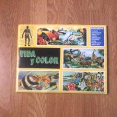 Coleccionismo Álbum: ÁLBUM COMPLETO VIDA Y COLOR - ED.COMICROMO - 1992. Lote 199169482