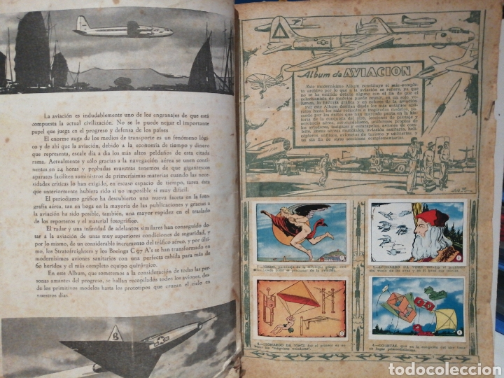 Coleccionismo Álbum: Album de cromos Completo AVIACION de 1900 a 1950 Ed. Clipper - Foto 2 - 199661132