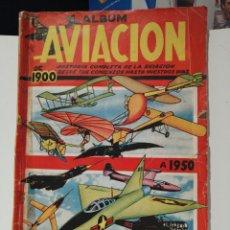 Coleccionismo Álbum: ALBUM DE CROMOS COMPLETO AVIACION DE 1900 A 1950 ED. CLIPPER. Lote 199661132