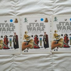 Coleccionismo Álbum: STAR WARS LOTE 3 ALBUM EPISODIO I LIBRO DE PEGATINAS NUEVOS SIN USO. Lote 199712017