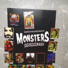 Coleccionismo Álbum: COLECCIÓN CROMOS MONSTRUOS - MONSTERS ALBUM NEGRO - MUY DIFICIL - NO TERROR NI DIABÓLICO MACABRO. Lote 199734123