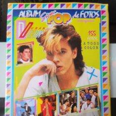 Coleccionismo Álbum: ÁLBUM CROMOS DOBLE FOTOS REVISTA SUPER POP SPANDAU BALLET Y DURAN DURAN COMPLETO MBE. Lote 199889707