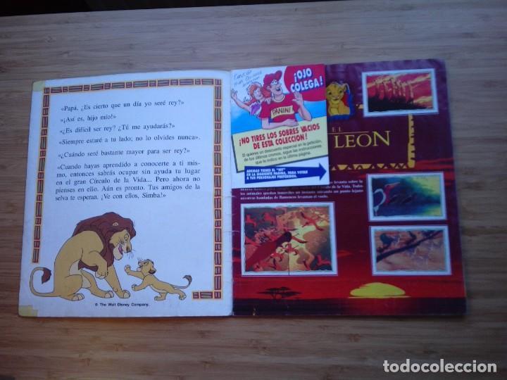 Coleccionismo Álbum: EL REY LEON - ALBUM COMPLETO - EDITORIAL PANINI - GORBAUD - Foto 2 - 200046731