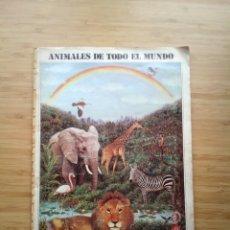 Coleccionismo Álbum: ANIMALES DE TODO EL MUNDO - ALBUM DE CROMOS COMPLETO - NUEVA GENERACION EDITORES SA - GORBAUD. Lote 201594970