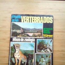 Coleccionismo Álbum: EL MUNDO DE LOS VERTEBRADOS - MUSEO EL CARMEN - ALBUM DE CROMOS COMPLETO - COLED SA - GORBAUD. Lote 201596823