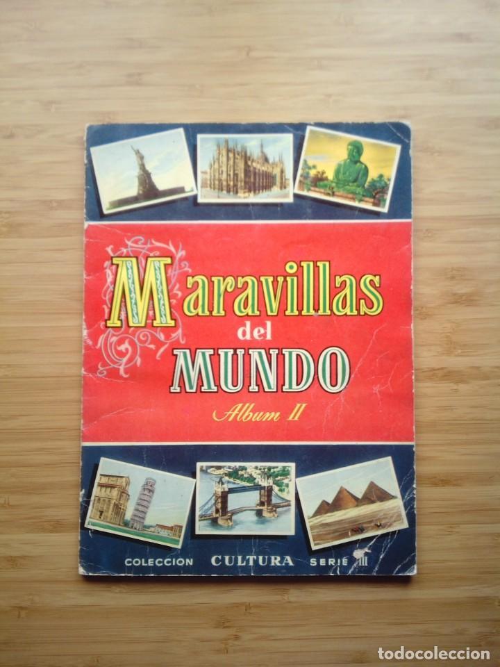 MARAVILLAS DEL MUNDO - ALBUM II - ALBUM DE CROMOS COMPLETO - BRUGUERA - GORBAUD (Coleccionismo - Cromos y Álbumes - Álbumes Completos)