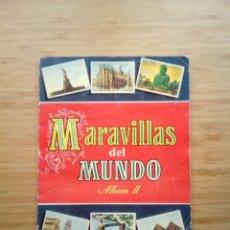 Coleccionismo Álbum: MARAVILLAS DEL MUNDO - ALBUM II - ALBUM DE CROMOS COMPLETO - BRUGUERA - GORBAUD. Lote 201598413