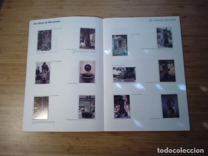 Coleccionismo Álbum: LES FONTS DE BARCELONA - ALBUM COMPLETO DE CAIXA CATALUÑA - MUY BUEN ESTADO - GORBAUD - Foto 7 - 201821323