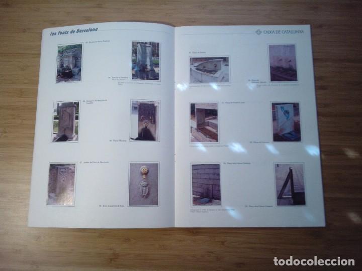 Coleccionismo Álbum: LES FONTS DE BARCELONA - ALBUM COMPLETO DE CAIXA CATALUÑA - MUY BUEN ESTADO - GORBAUD - Foto 8 - 201821323