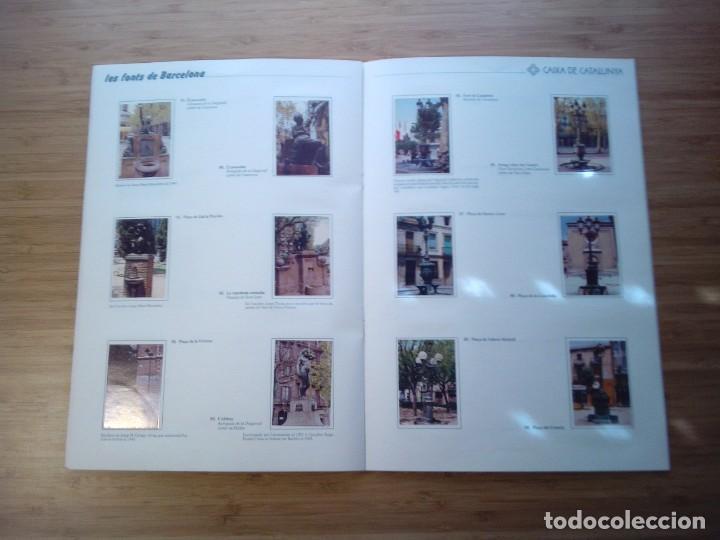 Coleccionismo Álbum: LES FONTS DE BARCELONA - ALBUM COMPLETO DE CAIXA CATALUÑA - MUY BUEN ESTADO - GORBAUD - Foto 12 - 201821323