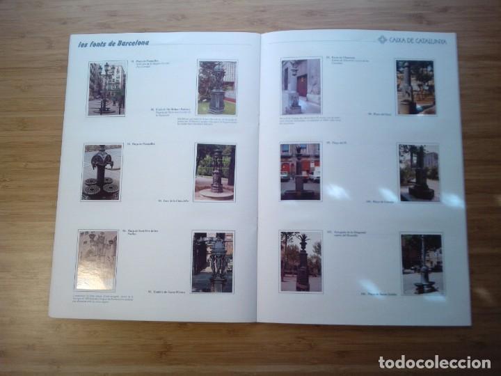 Coleccionismo Álbum: LES FONTS DE BARCELONA - ALBUM COMPLETO DE CAIXA CATALUÑA - MUY BUEN ESTADO - GORBAUD - Foto 13 - 201821323