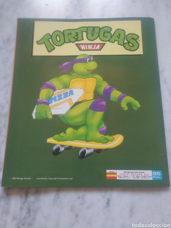 Coleccionismo Álbum: Album de cromos Tortugas ninja. ( completo) inpecable. Sin poster. - Foto 2 - 201841681