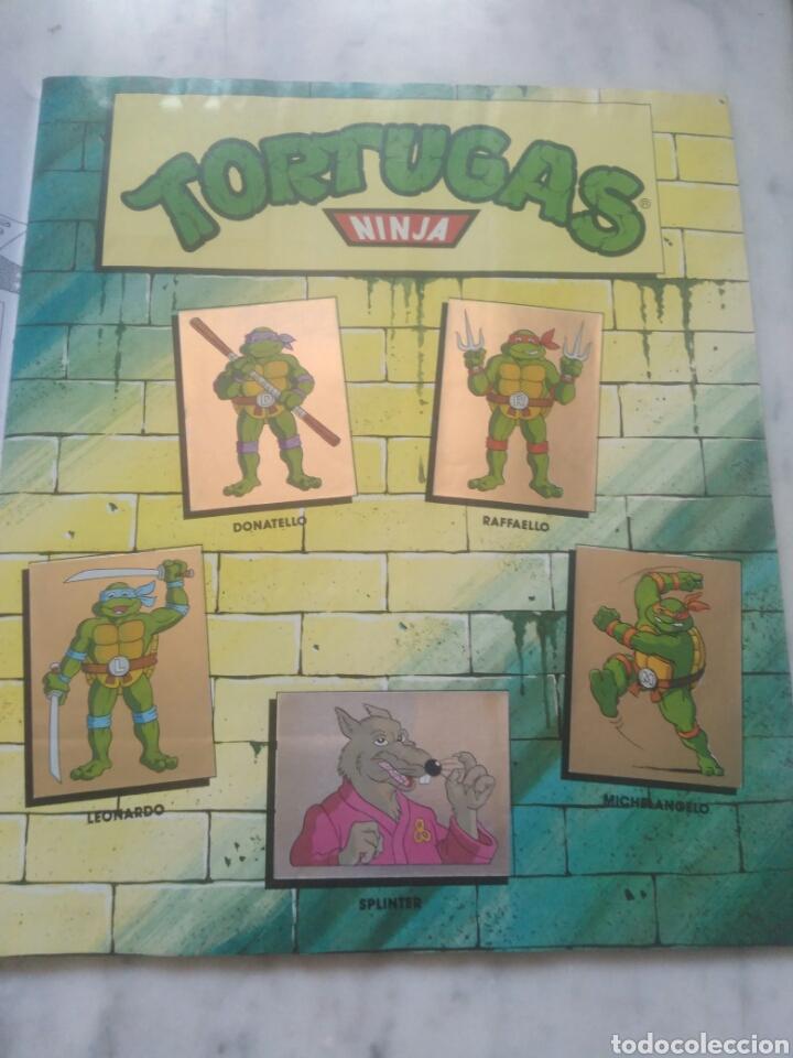Coleccionismo Álbum: Album de cromos Tortugas ninja. ( completo) inpecable. Sin poster. - Foto 4 - 201841681