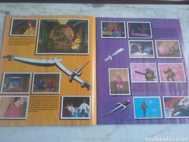 Coleccionismo Álbum: Album de cromos Tortugas ninja. ( completo) inpecable. Sin poster. - Foto 6 - 201841681