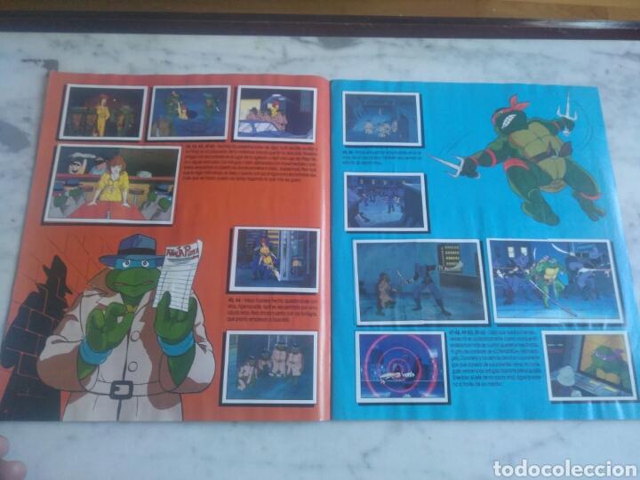 Coleccionismo Álbum: Album de cromos Tortugas ninja. ( completo) inpecable. Sin poster. - Foto 7 - 201841681