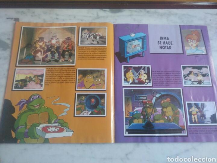 Coleccionismo Álbum: Album de cromos Tortugas ninja. ( completo) inpecable. Sin poster. - Foto 10 - 201841681