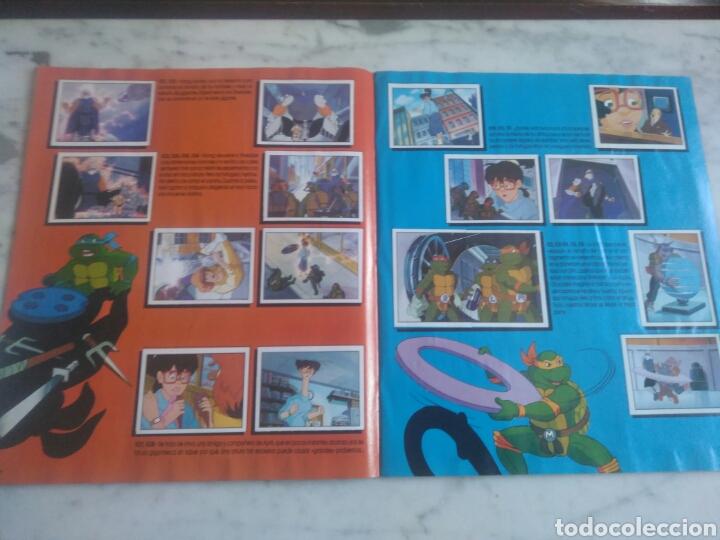 Coleccionismo Álbum: Album de cromos Tortugas ninja. ( completo) inpecable. Sin poster. - Foto 11 - 201841681