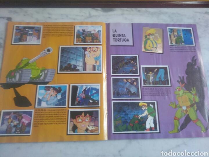 Coleccionismo Álbum: Album de cromos Tortugas ninja. ( completo) inpecable. Sin poster. - Foto 12 - 201841681