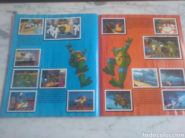 Coleccionismo Álbum: Album de cromos Tortugas ninja. ( completo) inpecable. Sin poster. - Foto 15 - 201841681