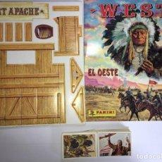 Coleccionismo Álbum: ALBUM DE CROMOS WEST COMPLETO (200 CROMOS) + FUERTE DE PANINI - NUEVO. Lote 42529513