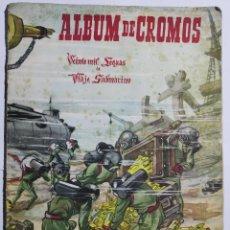 Coleccionismo Álbum: ALB-15. ALBUM DE CROMOS VEINTE MIL LEGUAS DE VIAJE SUBMARINO. ALBUM Nº2. COMPLETO. . Lote 201980643