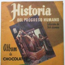 Coleccionismo Álbum: ALB-26. ALBUM DE CROMOS HISTORIA DEL PROGRESO HUMANO. SULTANA. IND.TORNER. COMPLETO.. Lote 202009705