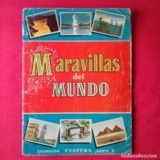 Coleccionismo Álbum: MARAVILLAS DEL MUNDO COMPLETO BRUGUERA 1956 COLECCION CULTURA SERIE II. Lote 202098146