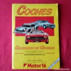 Coleccionismo Álbum: COCHES. EDIC. REUNIDAS SA. 1986 MOTOR 16 COMPLETO.. Lote 202100333