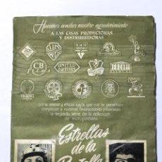 Coleccionismo Álbum: ALB-59. ALBUM DE CROMOS ESTRELLAS DE LA PANTALLA. 2ªSERIE DE LA COLECCION MICROPOSTALES ESTRELLAS. Lote 202722800