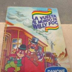 Coleccionismo Álbum: ALBUM DE CROMOS LA VUELTA AL MUNDO DE WILLY FOG - DANONE - COMPLETO - LEER -. Lote 202913902