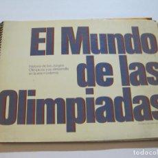 Coleccionismo Álbum: EL MUNDO DE LAS OLIMPIADAS-JUEGOS OLIMPICOS-ALBUM DE CROMOS COMPLETO-VER FOTOS-(V-19.819). Lote 217260825
