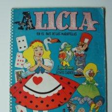 Coleccionismo Álbum: ALICIA EN EL PAIS DE LAS MARAVILLAS. SOLO LOS CROMOS. COLECCION COMPLETA. Lote 203087253