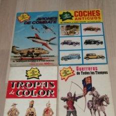 Coleccionismo Álbum: LOTE DE CUATRO ALBUM DE CROMOS. UNO DE ELLOS REGALO. LEER DESCRIPCION. Lote 203169036