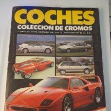 Coleccionismo Álbum: ALBUM COMPLETO COCHES COLECCIÓN DE CROMOS- MOTOR 16. Lote 203247547