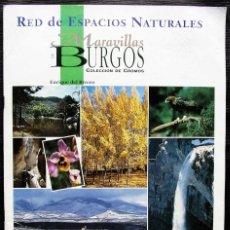 Coleccionismo Álbum: ÁLBUM COMPLETO. RED DE ESPACIOS NATURALES. MARAVILLAS DE BURGOS. AÑO: 1992. BUEN ESTADO.. Lote 203382096